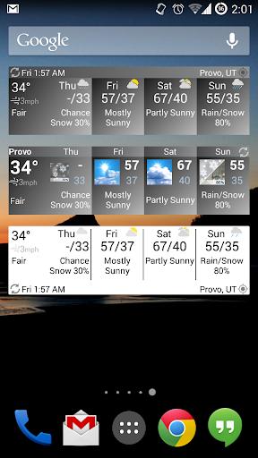 Forecast Widget HD
