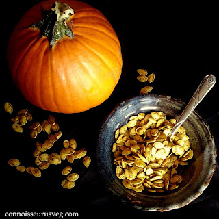 Super Scary Halloween Curry Roasted Pumpkin Seeds!