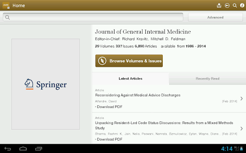 J of General Internal Medicine - screenshot thumbnail