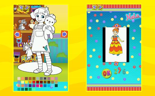 Princess Nela Coloring Fun