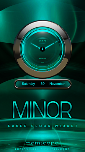 MINOR Laser Clock Widget