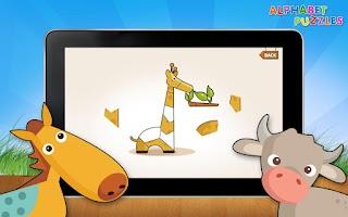 Screenshot of Kids ABC Alphabet Puzzles Lite
