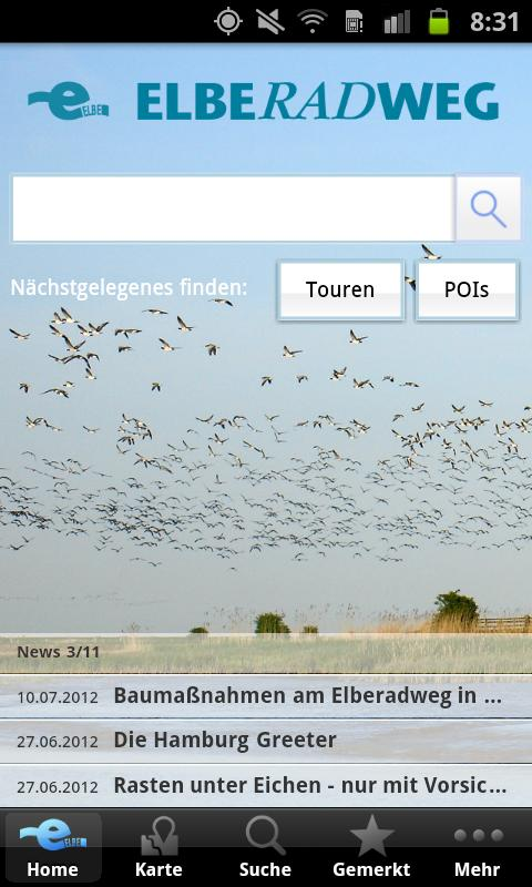 Elberadweg- screenshot