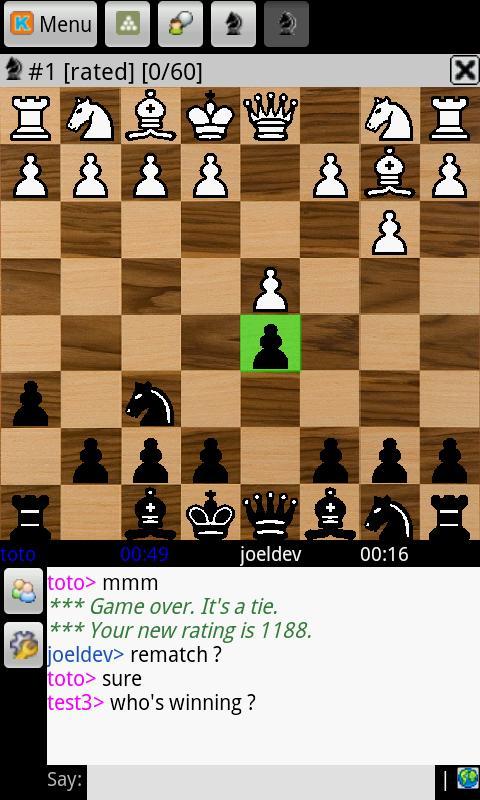 Chess online (free) - screenshot