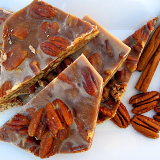 Chewy Pecan Pie Brittle.