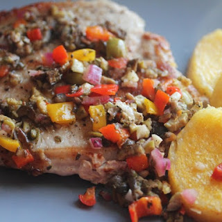 One-Dish Pork Chops With Muffuletta Relish