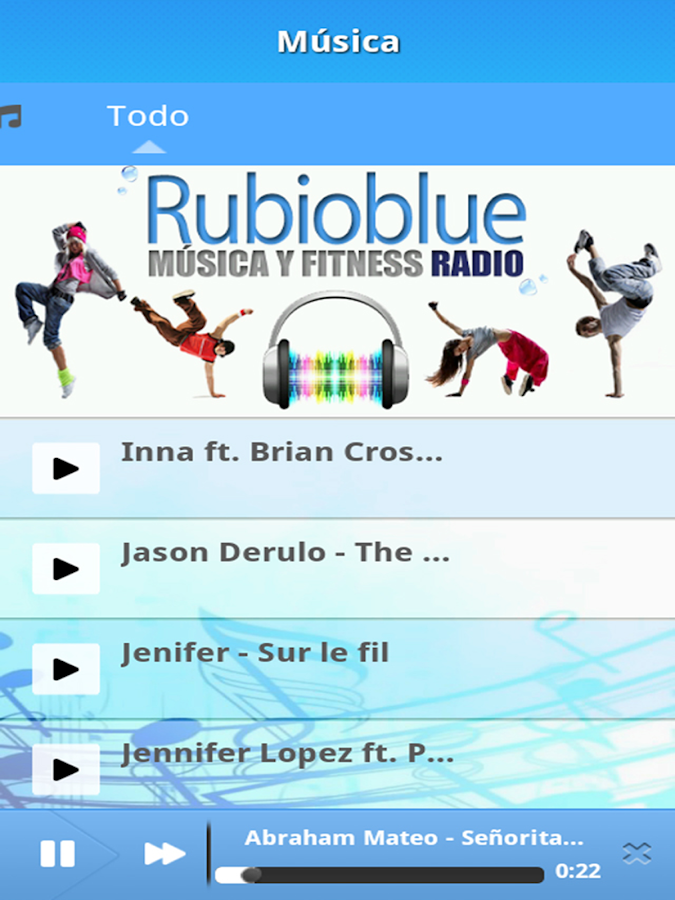 RUBIOBLUE Música y Fitness- screenshot