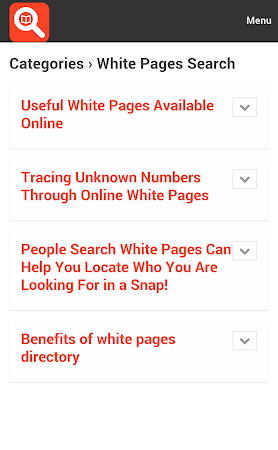 White Pages Search 1.0 screenshot 10021
