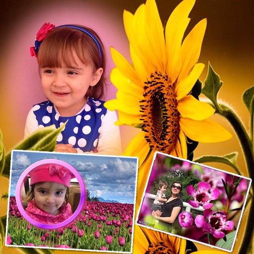 花のフォトフレーム 攝影 LOGO-玩APPs
