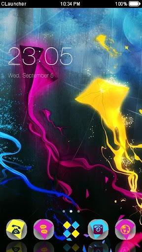 '彩色風箏'手機主題——暢遊桌面
