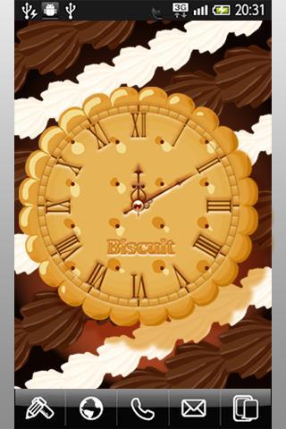 ビスケット・アナログ時計ウィジェット