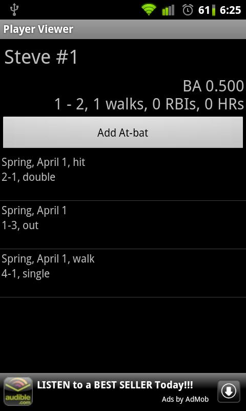 Softball Stats- screenshot