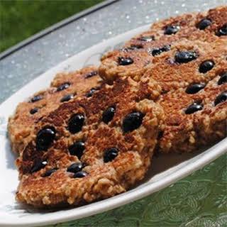 Flourless Oatmeal Blueberry Pancakes.