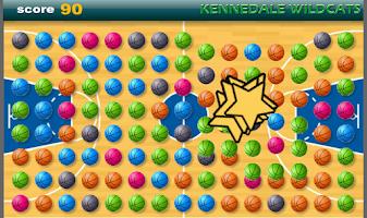 Screenshot of Wildcat Basketball Solitaire