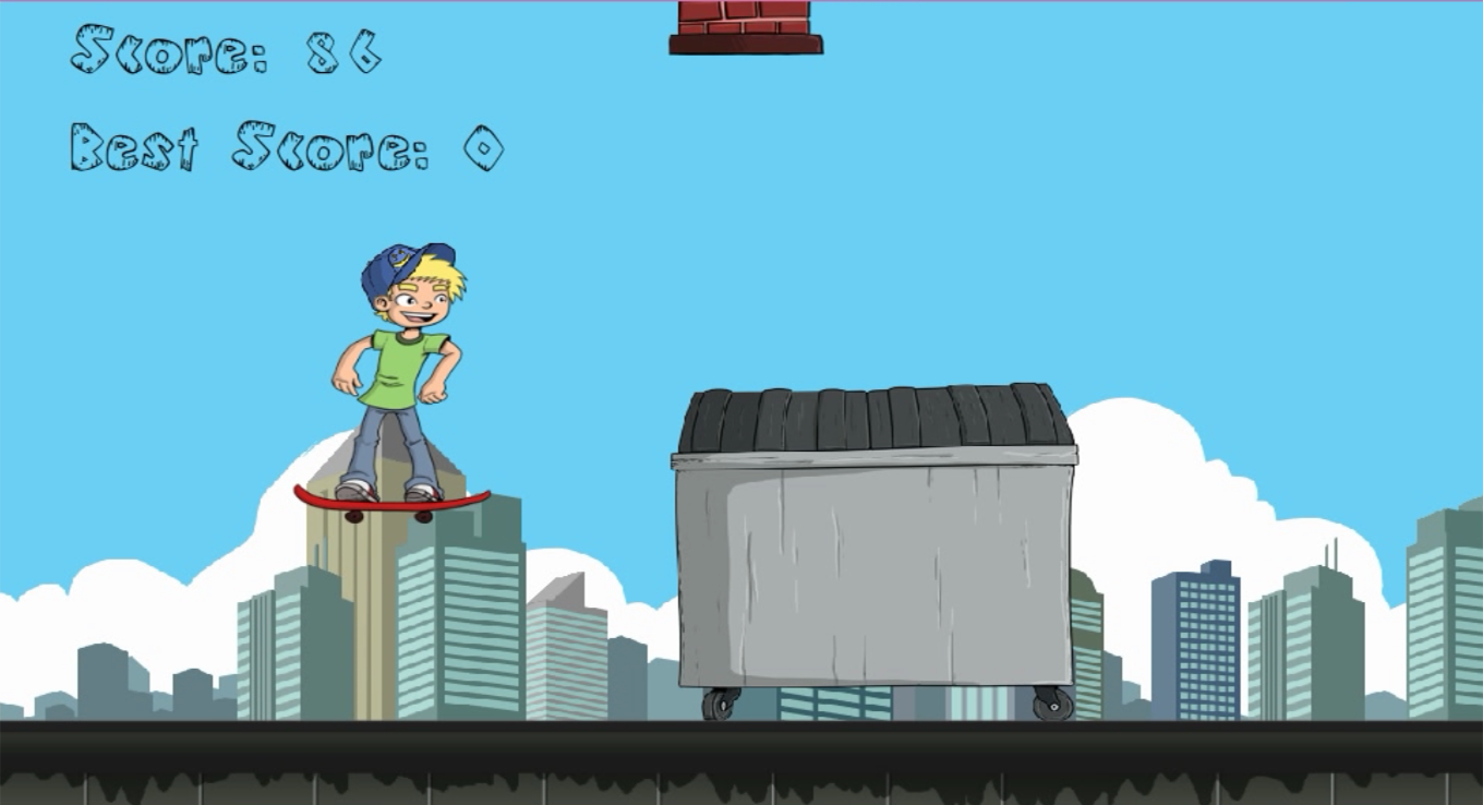Jumpy Skater - Skateboard Boy - screenshot