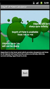 Depth Of Field Calculator screenshot 1