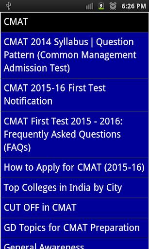 cmat exam 2015