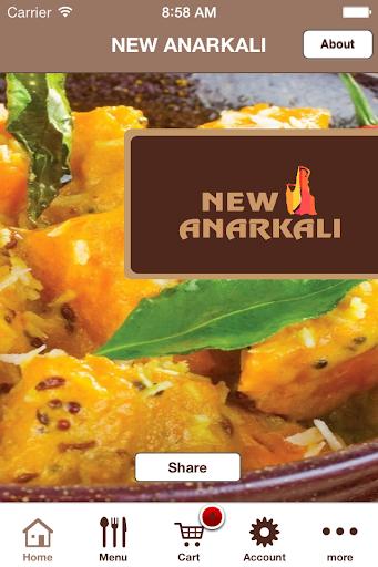 New anarkali restaurant app app for Anarkali indian cuisine