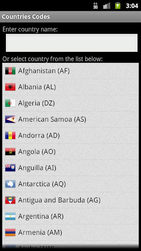 Countries Codes Reloaded