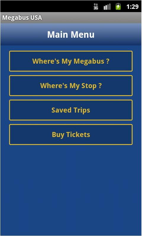 Megabus USA - screenshot