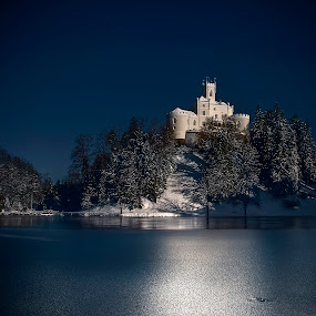 Trakoscan castle  by Zarko Piljak - Landscapes Travel ( trakoscan, winter, romantic castle, croatia, lake, castle, frozen, trakošćan, castle on lake )