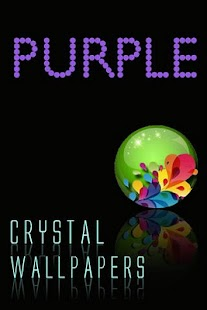 水晶紫色壁紙