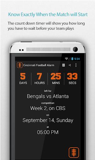 Cincinnati Football Alarm