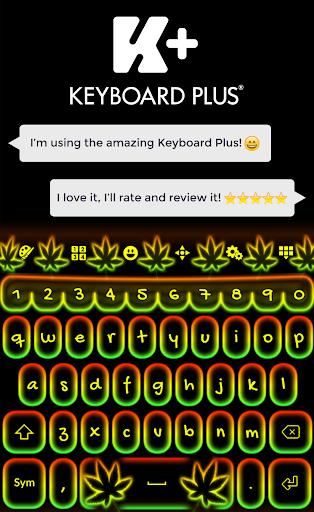 键盘霓虹灯拉斯塔