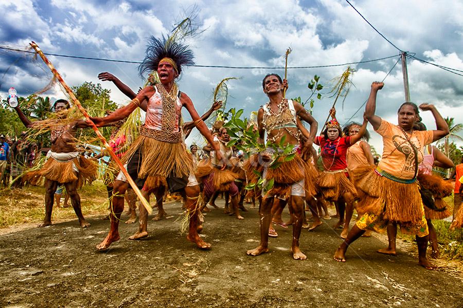 papua dancer by Wahyudi Syahrir - People Musicians & Entertainers