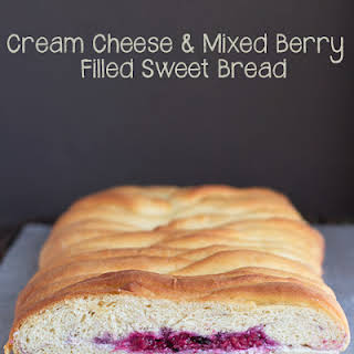 Cream Cheese & Mixed Berry Filled Sweet Bread.