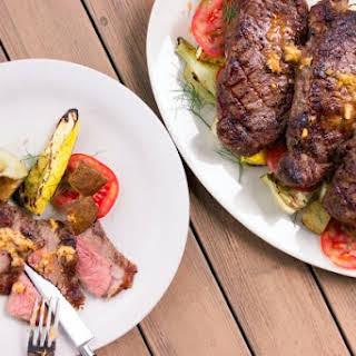 Strip Steaks With Bouillabaisse Butter.