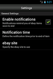 Notifier for ebay - screenshot thumbnail
