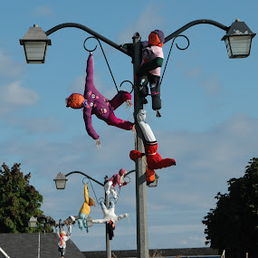 Hanging out by Wayne Paton - Artistic Objects Other Objects ( fall, lampposts, decorations, poles, scarecrows )