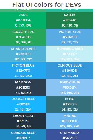 Flat UI colors for devs
