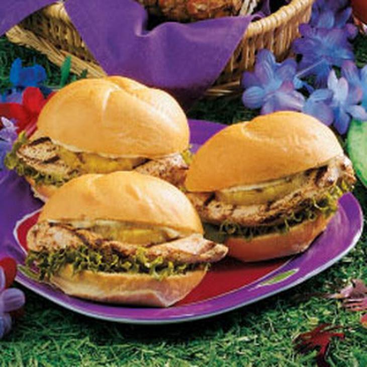 Luau Chicken Sandwiches Recipe