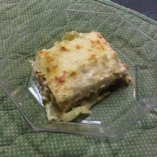Cajun Chicken Lasagna.