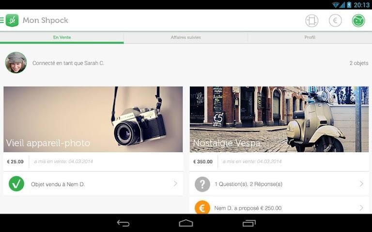 android Shpock Flohmarkt Kleinanzeigen Screenshot 10