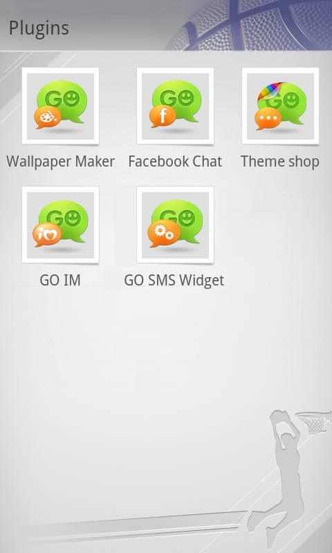 GO SMS Pro Basketball theme - screenshot