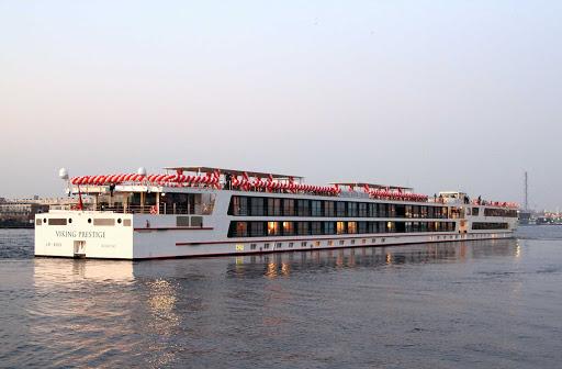 Viking-Prestige-Volendam - The river cruise ship Viking Prestige in Volendam, Netherlands.
