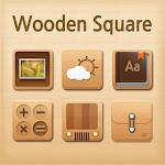 Wooden square Atom Iconpack