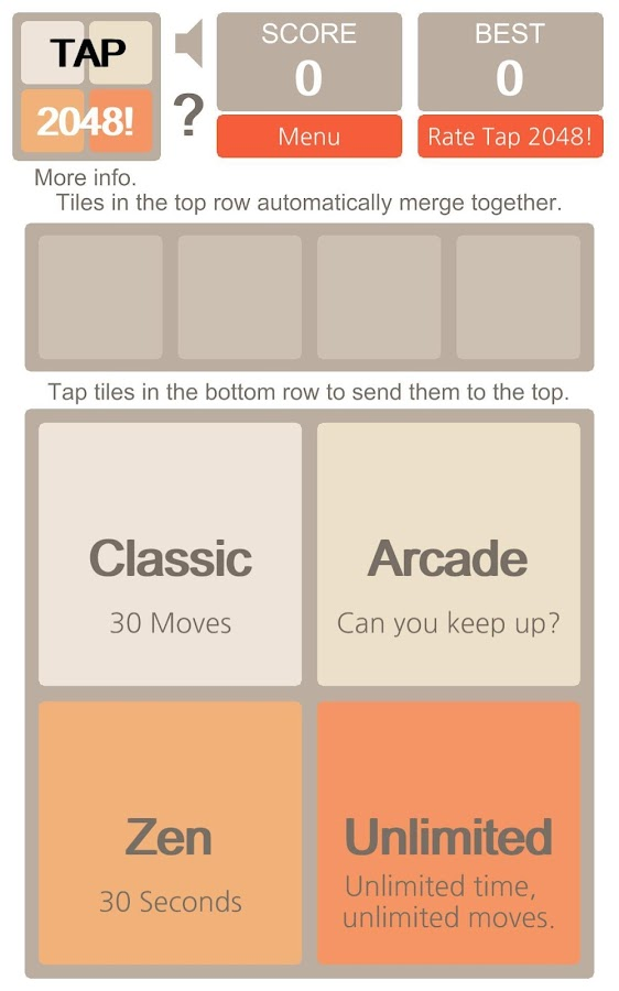 Tap 2048! - screenshot