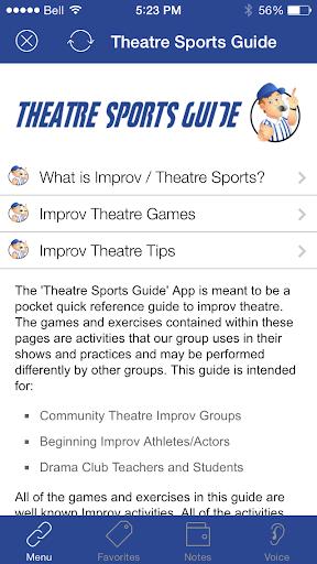 Theatre Sports Guide