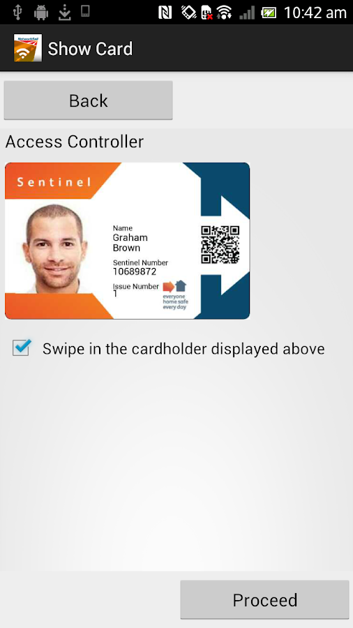 Sentinel NFC - screenshot