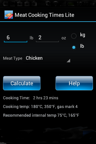 Meat Cooking Times Lite