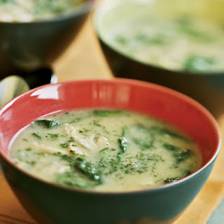 Lemon Chicken Soup with Spinach & Dill