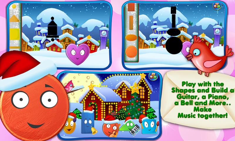 Friendly Shapes XMAS Storybook- screenshot