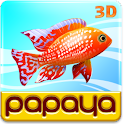 Papaya Fish 3D logo