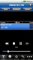 Screenshot of WBHM Public Radio App