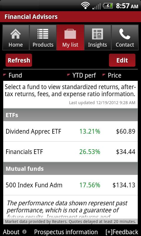 Vanguard for Advisors - screenshot