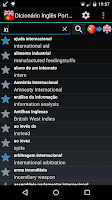 Screenshot of Offline English Portuguese dic